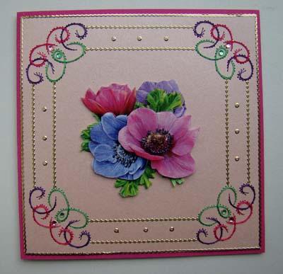 Bloemen borduur 1