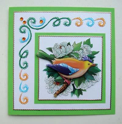 Vogel met borduur