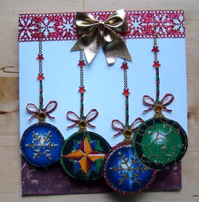 Kerstballenstof glitter 1