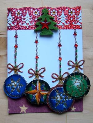 Kerstballenstof glitter 2