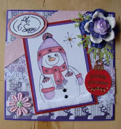 Stempel sneeuwman 1