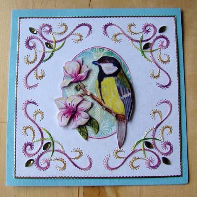 Vogel met borduur 1