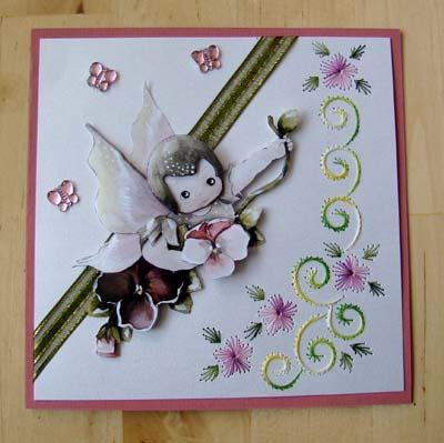 Engel met borduur 1