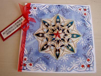 Ornamentsticker ster