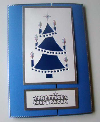 Blauwe kerstboom