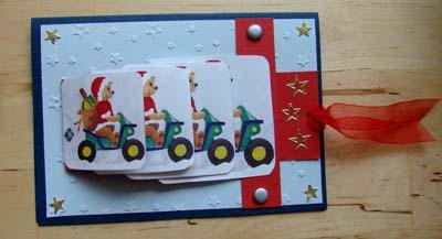 Waterval kaart kerst