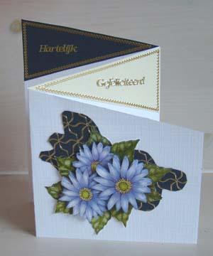 Vouwkaart bloem