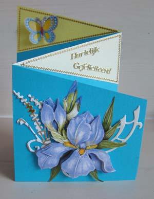 Vouwkaart bloem 1