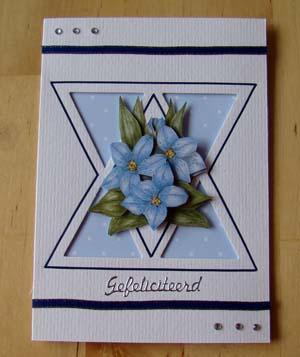 Blauwe bloem 3