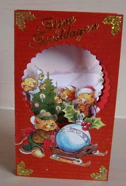 Doorkijk kaart kerst 1