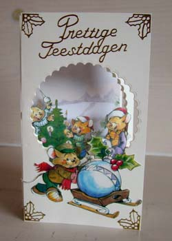 Doorkijk kaart kerst 2