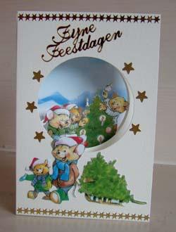 Doorkijk kaart kerst 3