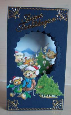 Doorkijk kaart kerst 4
