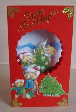 Doorkijk kaart kerst 8