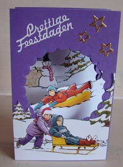 Doorkijk kaart kerst 11