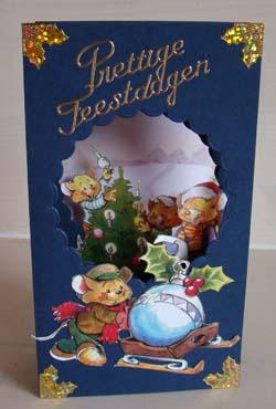 Doorkijk kaart kerst 13