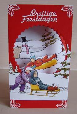 Doorkijk kaart kerst 14