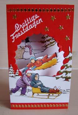Doorkijk kaart kerst 16