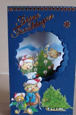 Doorkijk kaart kerst 18