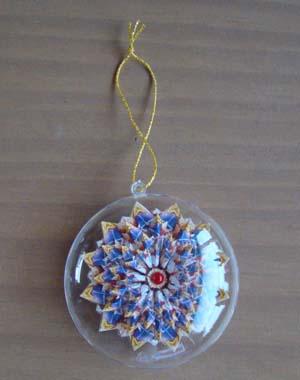 Mandala kerstbal 3