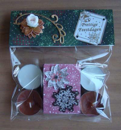 Kerstzakje waxinelichtjes en lucifers 1