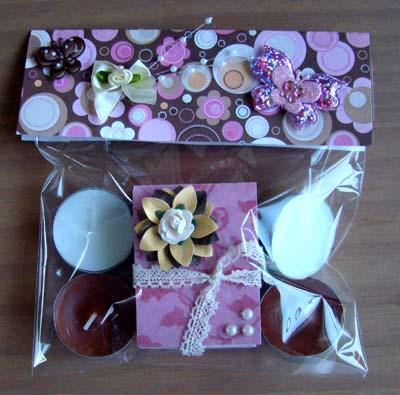 Zakje waxinelichtjes en lucifers 2