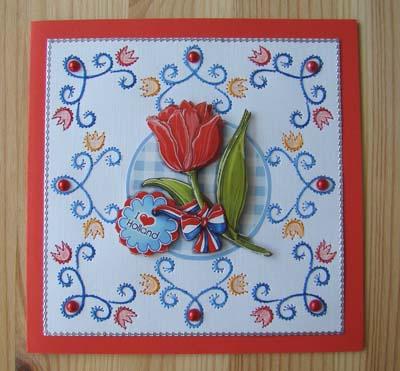 Tulp met borduur