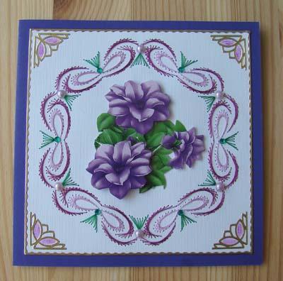 Bloemen borduur 6