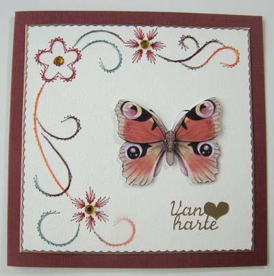 Vlinder borduur