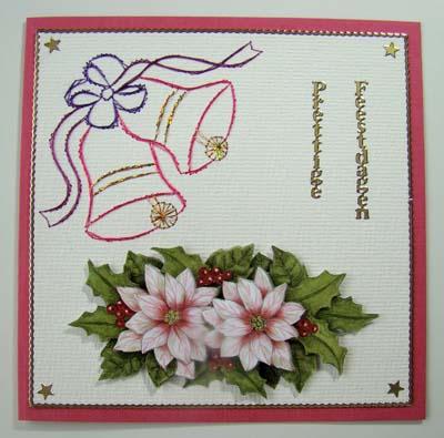 Kerstklokjes borduur