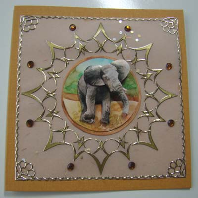 Sticker stitch olifant