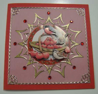 Sticker stitch vogel op mand