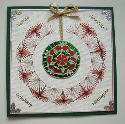 Kerstbal sticker en borduur