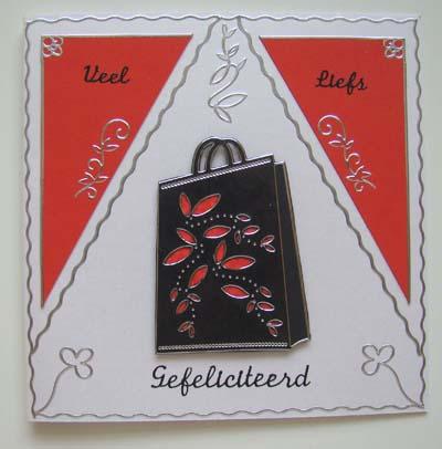 Dames tas zwart met rood