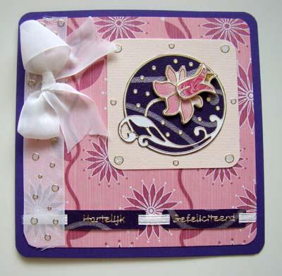 Roze en paars met strik