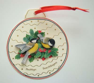 Kerstbal met vogeltjes