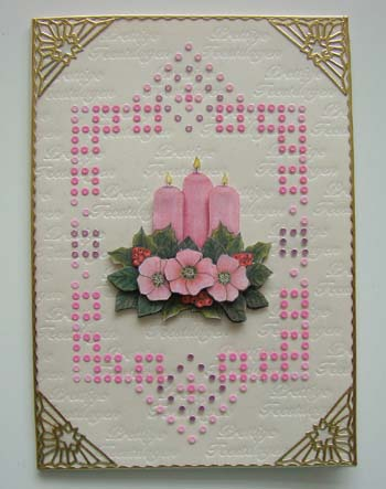 Roze kerststukje