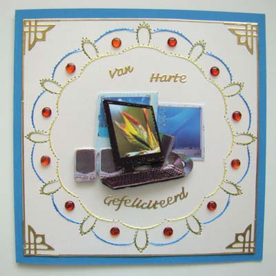 Computer met borduurrandje