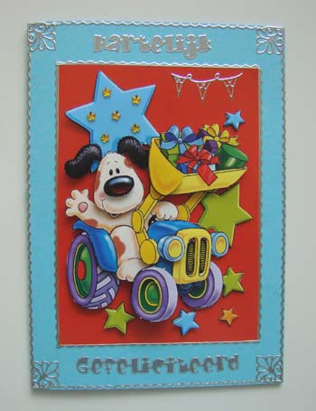 Kinderkaart blauw