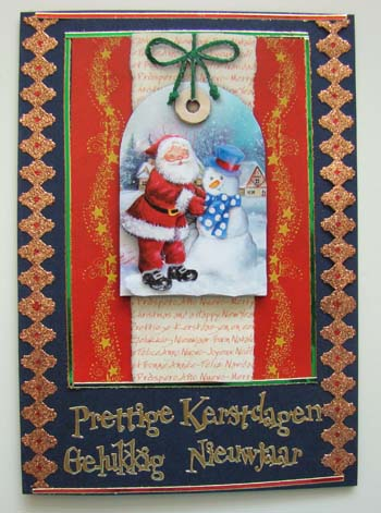 Kerstman label