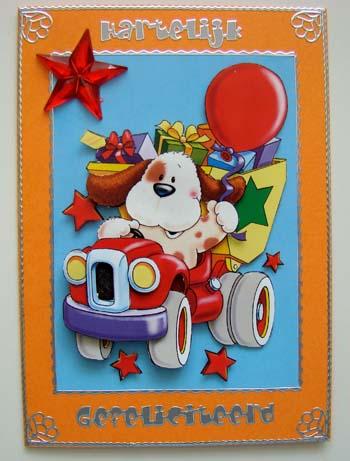 Kinderkaart oranje