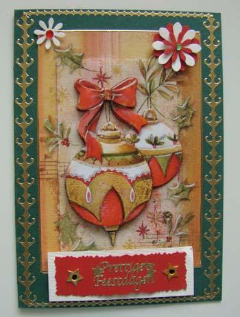 Kerst kaart met bloem