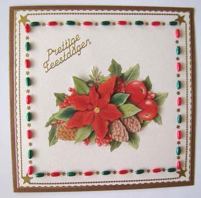 Kraaltjes rood kerst stukje