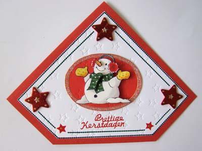 Figuur kaart kerstman