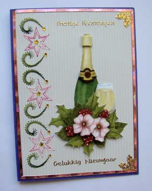 Champagne met roze