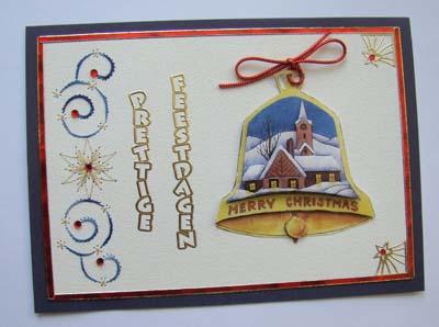 Kerstklok met borduur