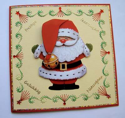 Kerstman met borduur
