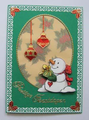 Sneeuwpop met vellum