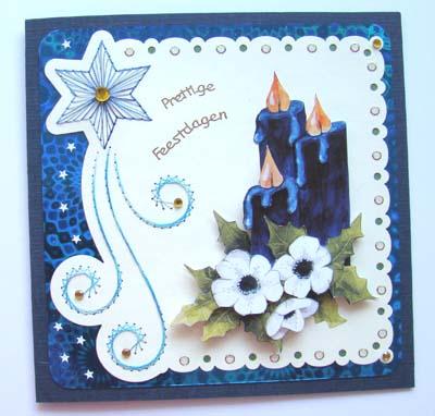 Blauwe kaarsen