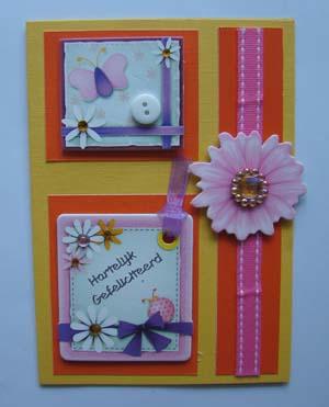 Label en bloem kaart